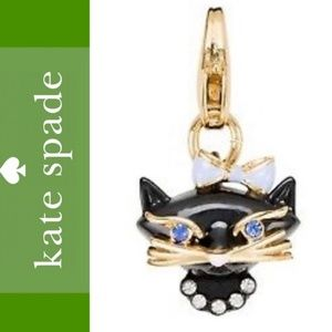 Kate Spade How Charming Kitty Cat Charm NEW